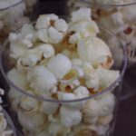 A New Year's Eve late night snack of Popcorn with Sweet Butter and Sea Salt