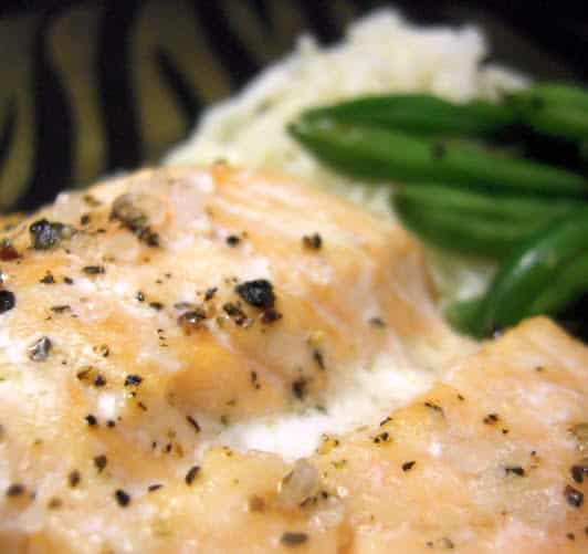 Simple Salt and Pepper Seasoned Salmon