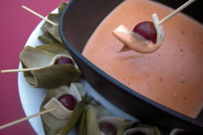A hot cheesy dip recipe for Pepper Jack Fondue