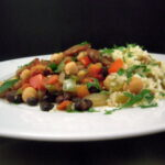 Cumin Scented Chickpeas with Chicken Sausage