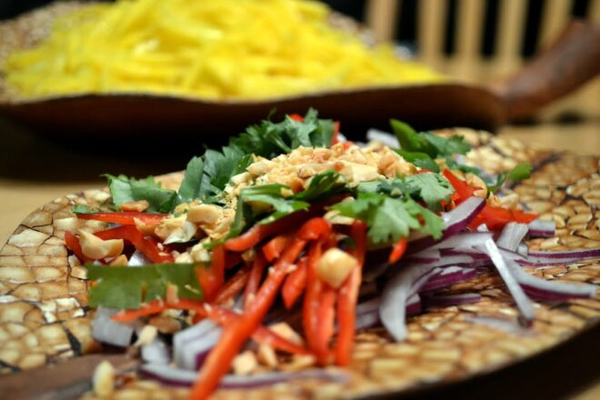 Thai Curry and Mango Salad (for Picky Palates)