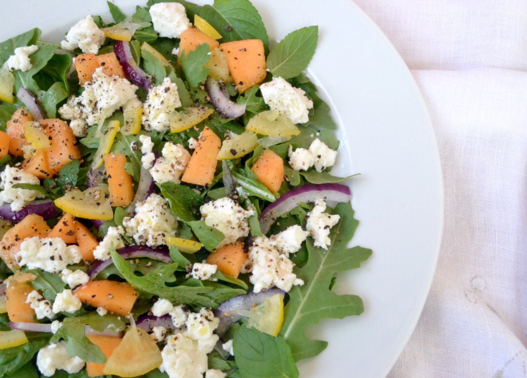 Preserved lemon and cantaloupe salad with mint and feta ...