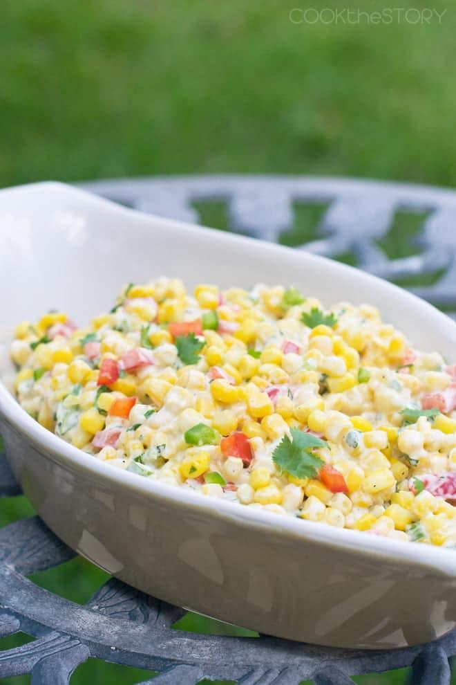Creamy Spicy Summer Corn Salad