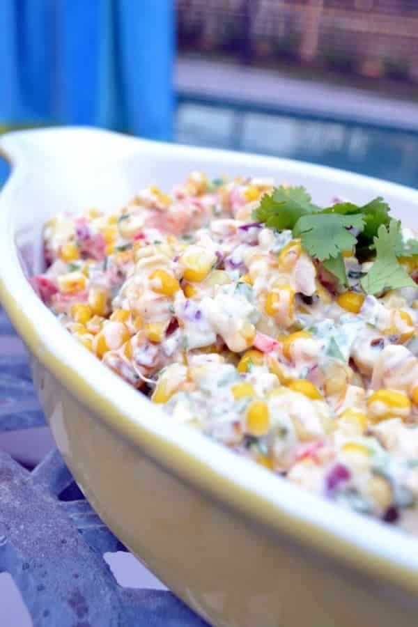Spicy Creamy Smoky Sweet Corn Salad