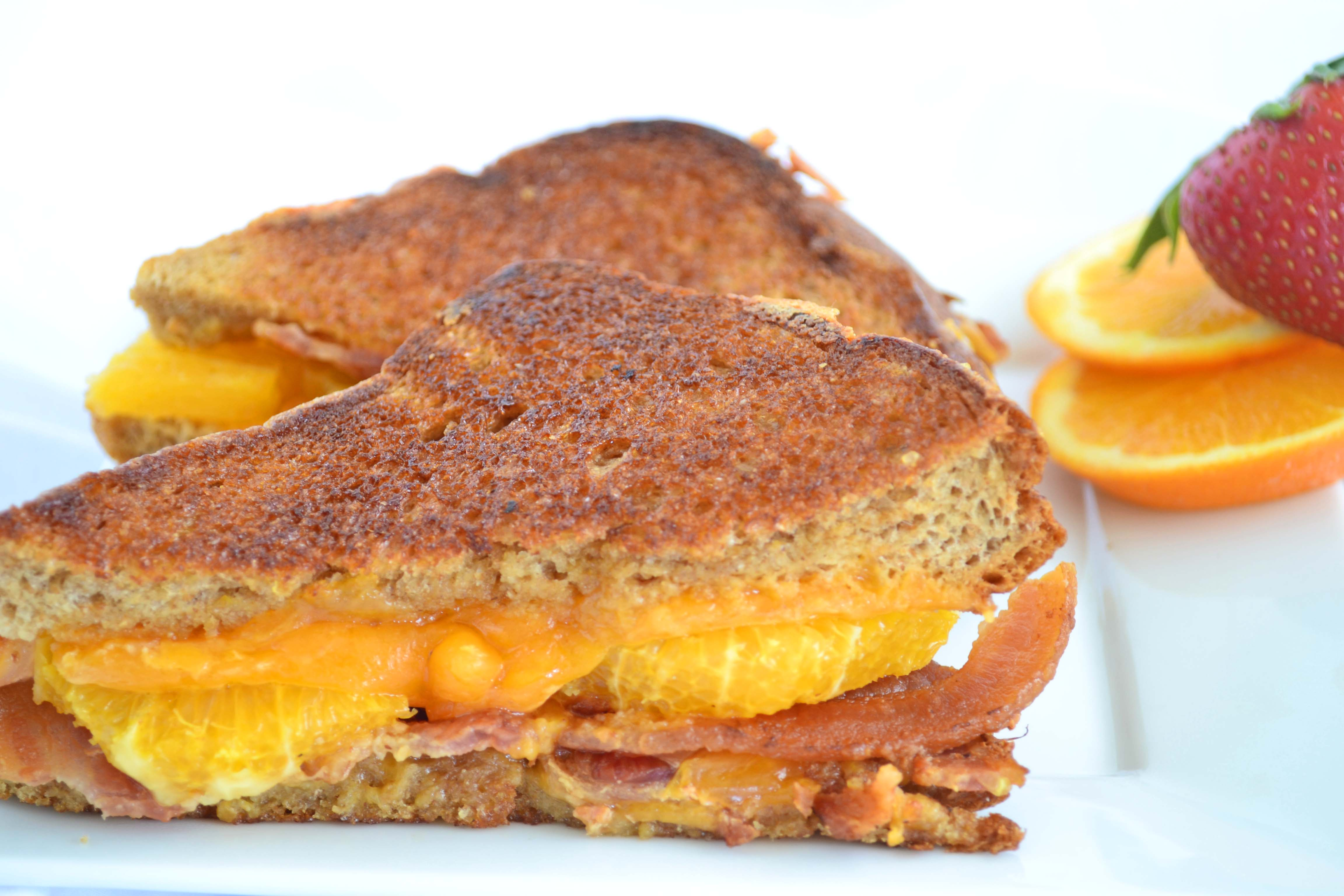 A riff on the grilled cheese sandwich. Does it count as a true grilled cheese?