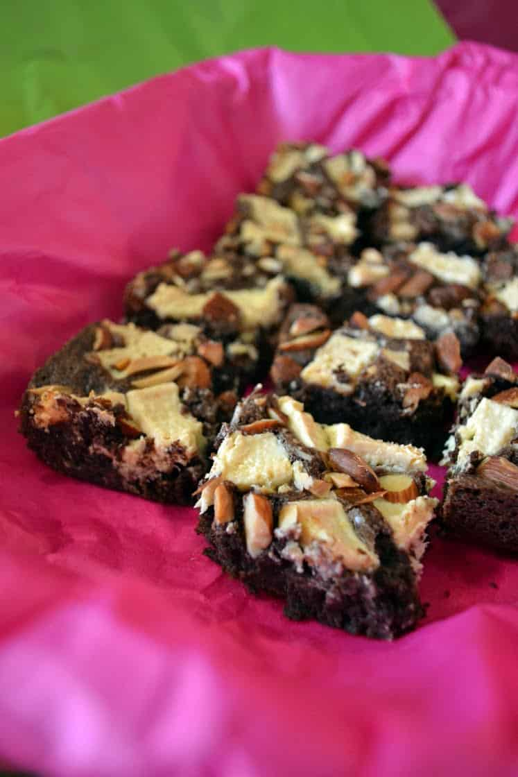 White Chocolate Almond Cocoa Brownies