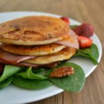 Cheesy Ham Pancakes for Dinner - Recipe from COOKtheSTORY.com
