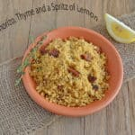 Chorizo Couscous with Lemon and Thyme