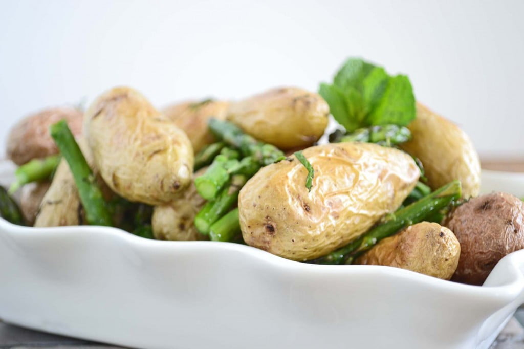 Roast Chicken With Potatoes, Lemon, And Asparagus Recipes — Dishmaps