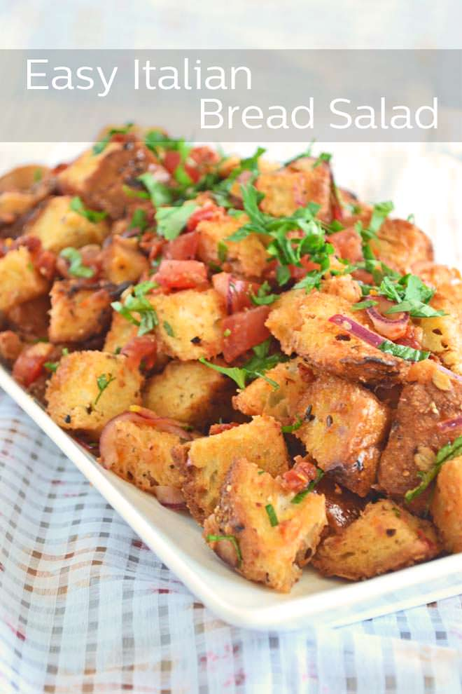 Italian Bread Salad Panzanella Cook The Story