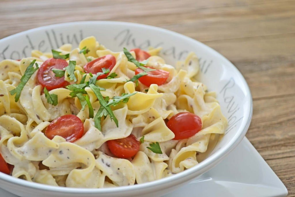 Egg Noodles with Homemade Cooking Cream