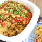 South-of-the-Border Cheesy Chicken Pasta Casserole Recipe