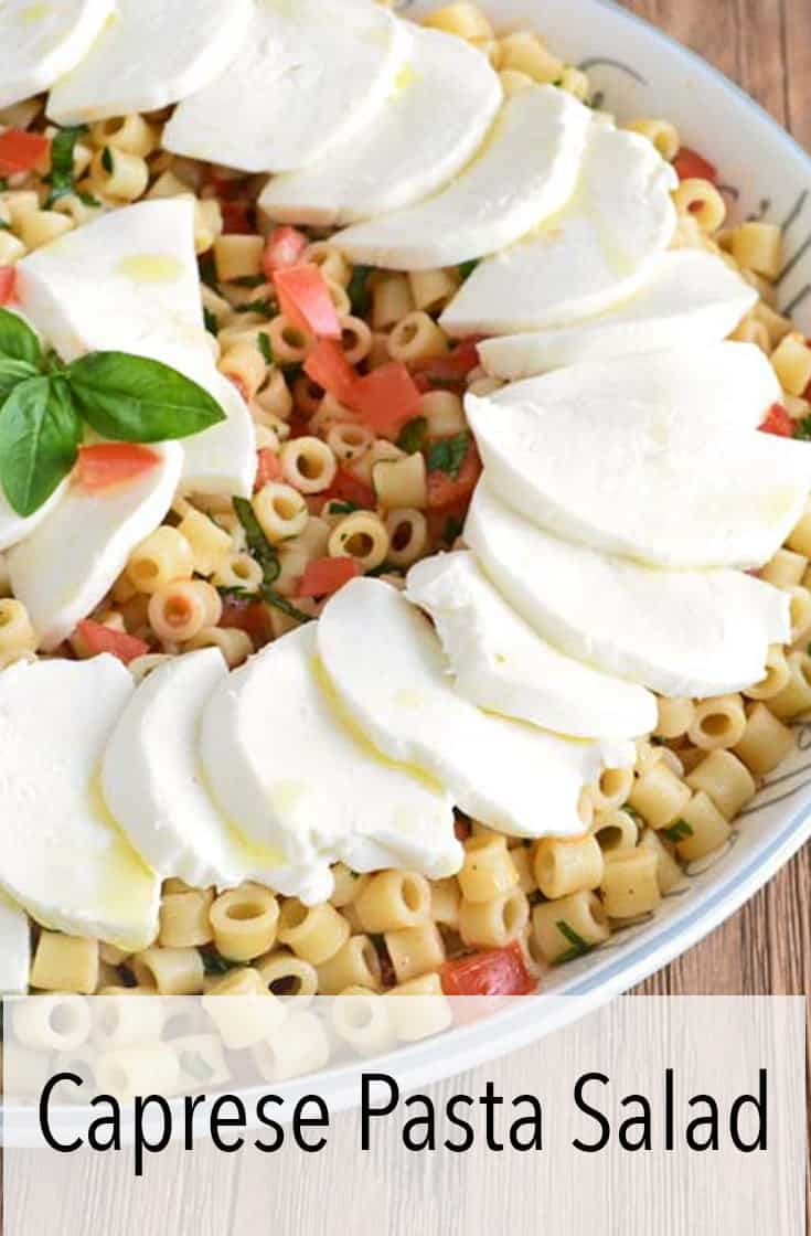 This make-ahead caprese pasta salad recipe is filled with fresh mozzarella, tomato, basil, and perfectly al dente pasta. It\'s the perfect thing to serve on a warm day.