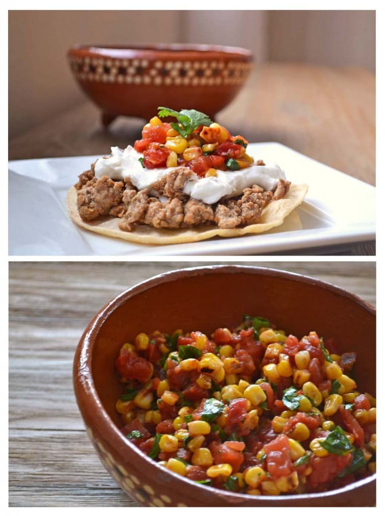 Quick Dinner Recipe for Tostadas with Roasted Corn Salsa
