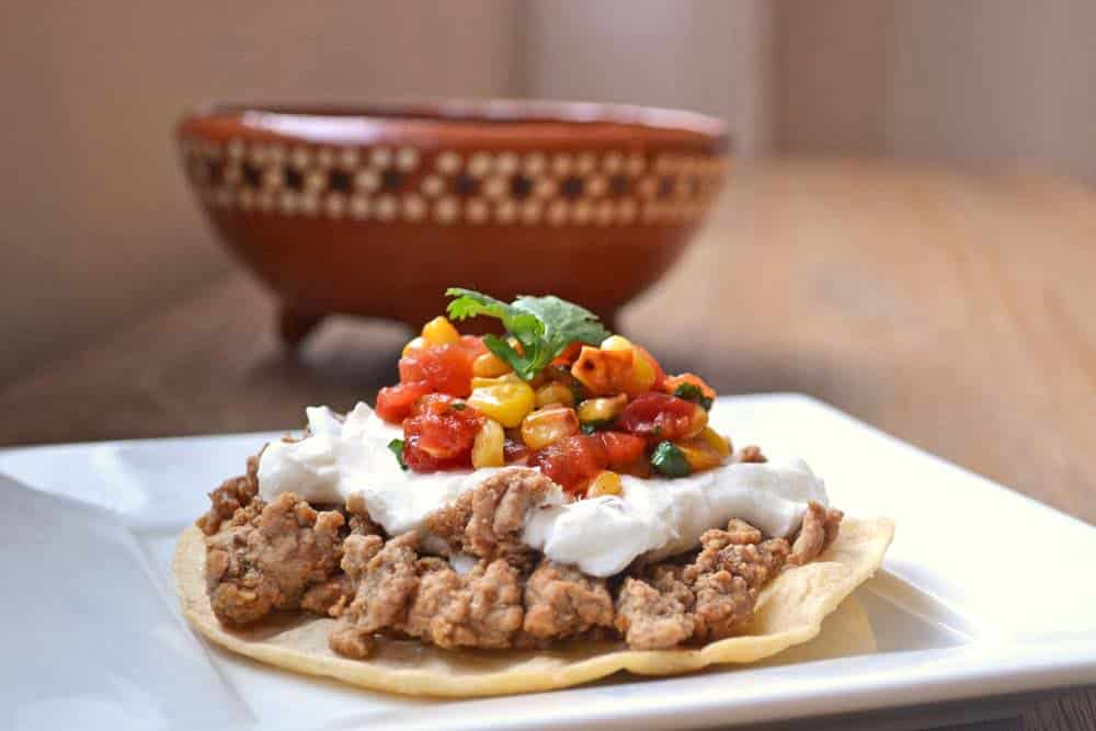 Quick Dinner Recipe for Tostadas with Homemade Roasted Corn Salsa
