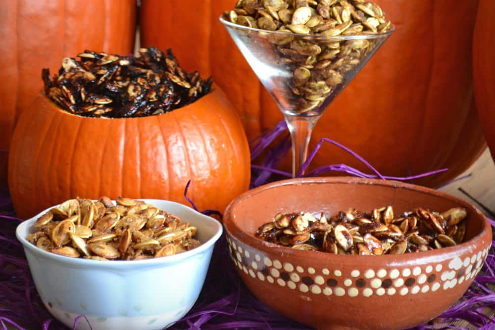 Roasted Pumpkin Seeds, how to roast pumpkin seeds, pumpkin seed recipes, seasonings for pumpkin seeds