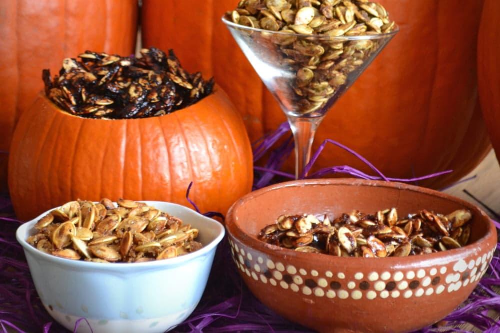 Roasted Pumpkin Seeds, how to roast pumpkin seeds, pumpkin seed recipes, seasonings for pumpkin seeds