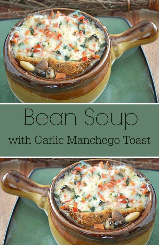 Slow cooked with 13 types of beans and topped with a slice of garlic cheese toast, this bean soup recipe makes a filling bowl of healthy and comfort.