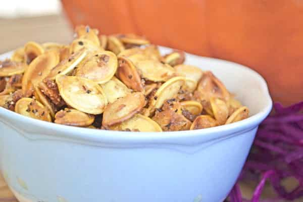 Salty Sweet Roasted Pumpkin Seeds Recipe
