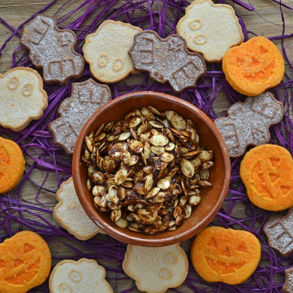 Maple Pumpkin Spice Roasted Pumpkin Seeds Recipe