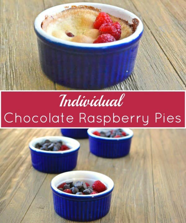 Easy Pie Recipe: Individual Chocolate Raspberry Cream Pies