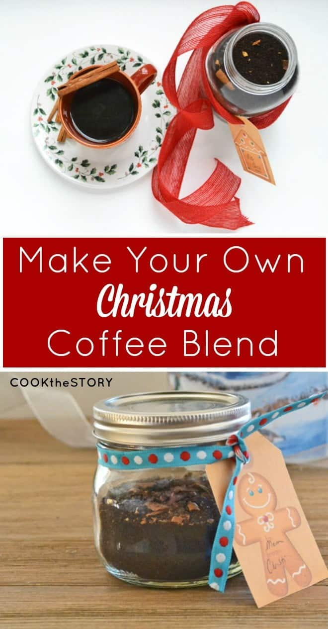 An Easy Homemade Holiday Food Gift: Make Your Own Christmas Coffee Blend. Perfect for hostess gifts.