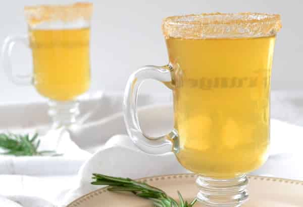 Hot Apple Cider with Rosemary