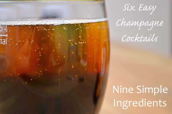 6 Easy Champagne Cocktails from 9 Simple Ingredients: The Black Velvet - A stout and champagne cocktail that is surprisingly good!