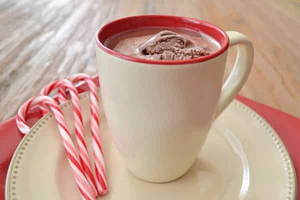Peppermint Hot Chocolate Recipe, easy flavored hot chocolate