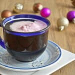 A Hot Holiday Drink Recipe: The Coffee Float: Coffee, sugar and ice cream (a dribble of boozey goodness is optional)