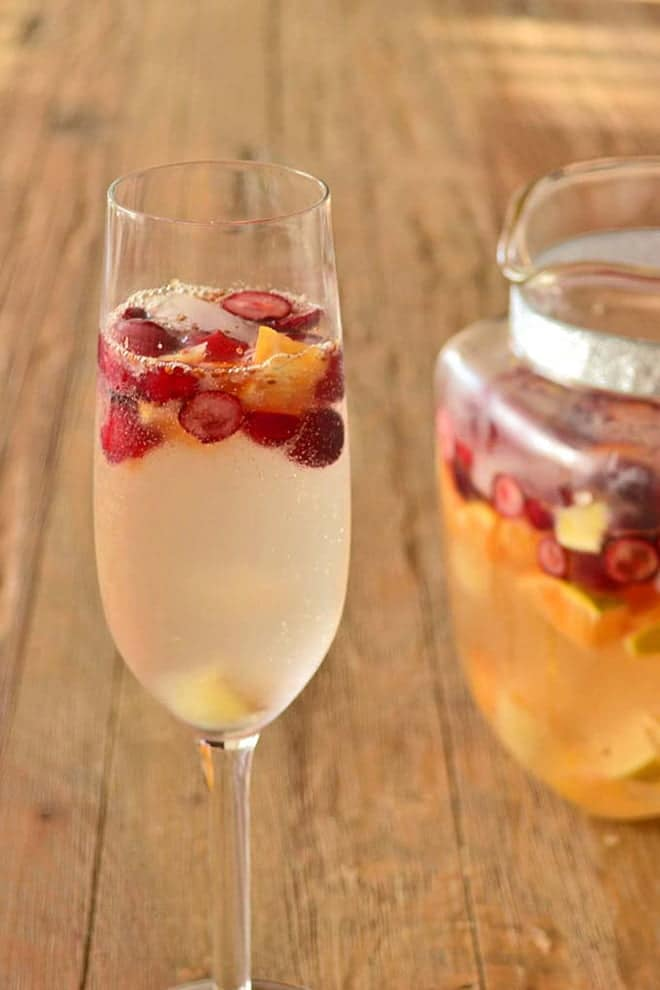 Make any party special with sparkling sangria. It's easy to make a lot of this to serve to guests from a pitcher and it can be made in advance.
