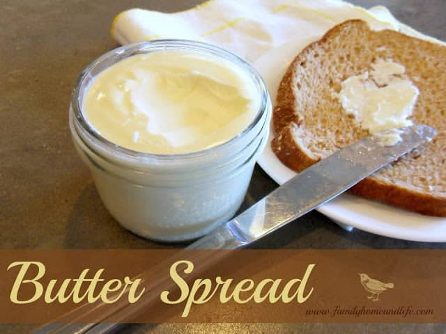 This is spreadable butter. Find out how to make butter as spreadable as margarine but keep it healthier.