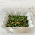 A Heatlhy and Tasty Spinach Recipe: Wilted Spinach with Garlic and Raisins