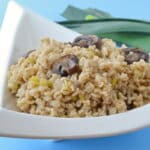 Healthy Barley Side Dish Recipe: Barley with Leeks and Mushrooms