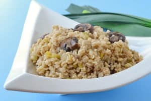 Healthy Barley Side Dish Recipe: Barley with Leeks and Mushrooms