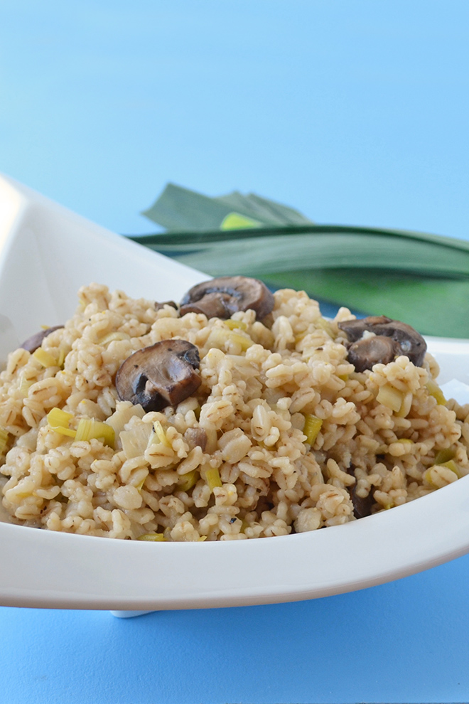 This barley side dish recipe is a healthy, meatless side dish. This recipe comes together quickly, is tasty and uses a grain that you can feel good about.