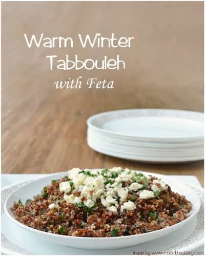 Warm Winter Tabbouleh with Feta made by @cookthestory