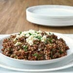 Warm Winter Tabbouleh Recipe, a healthy recipe, an easy side dish recipe