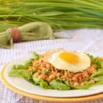 Gallo Pinto is a Nicaraguan dish of rice and beans that is sometimes topped with a fried egg. - It's a healthy recipe from COOKtheSTORY.com