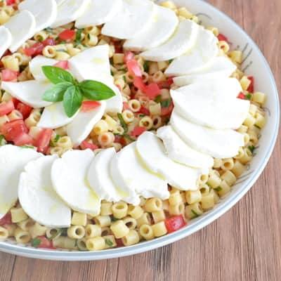 Make-Ahead Caprese Pasta Salad Recipe on COOKtheSTORY.com