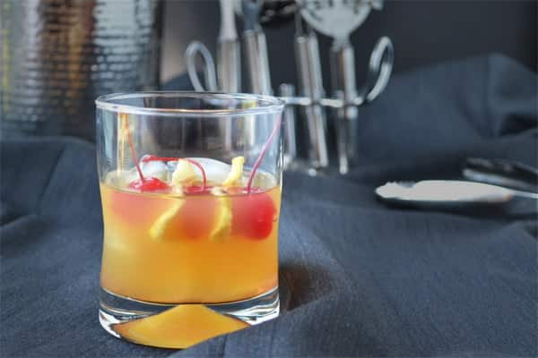 For a countdown to The Oscars, this is a drink in honor of Best Picture Nominee Lincoln. It's a riff on an Old Fashioned that uses Apple Brandy (Calvados) instead of whiskey. Recipe by www.cookthestory.com