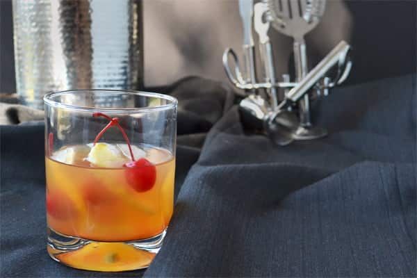For a countdown to The Oscars, this is a drink in honor of Best Picture Nominee Lincoln. It's a riff on the cocktail Old Fashioned that uses apple brandy (Calvados) instead of whiskey. Recipe by www.cookthestory.com