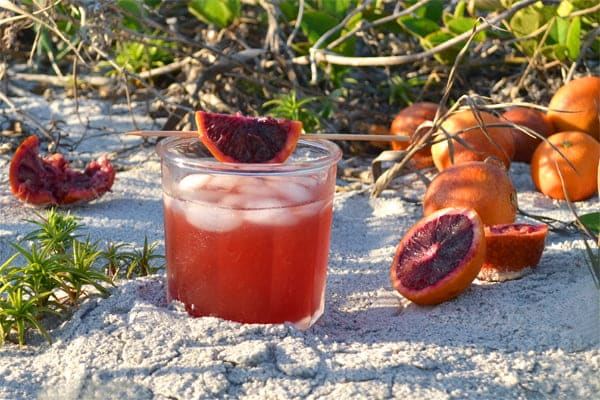 Blood Orange Sweet Tea Bourbon Cocktail