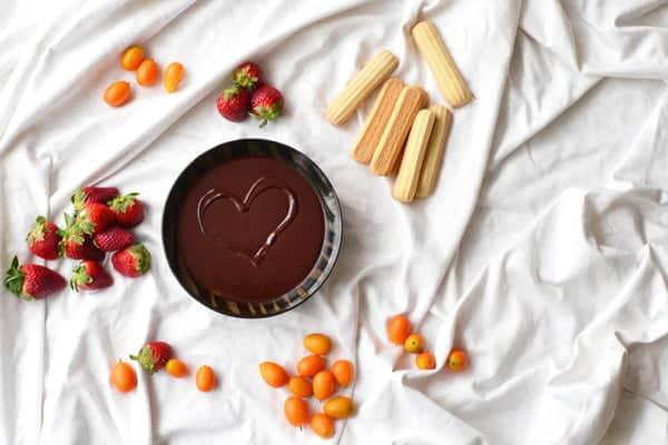 A Chocolate Fondue Recipe with Cardamom and Orange Liqueur by www.cookthestory.com