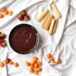 A Chocolate Fondue Recipe with Cardamom and Orangue Liqueur for a romantic dinner on Valentine's Day