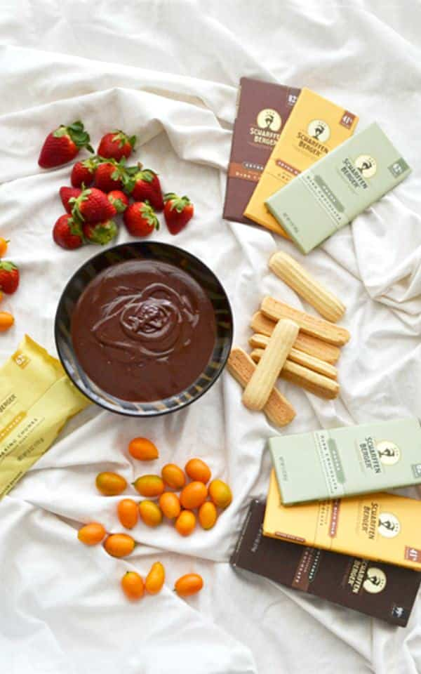 Cardamom-Orange Chocolate Fondue - Get the recipe for this romantic dessert on COOKtheSTORY.com