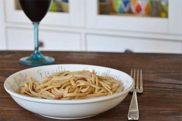 Pasta Carbonara with Greek Yogurt: A Delicious, Healthy and Quick Pasta Recipe by cookthestory