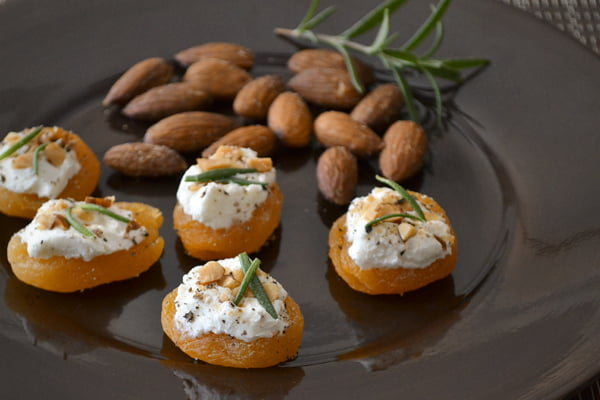 Apricot canap s and other healthy appetizer recipes for Cheese canape ideas