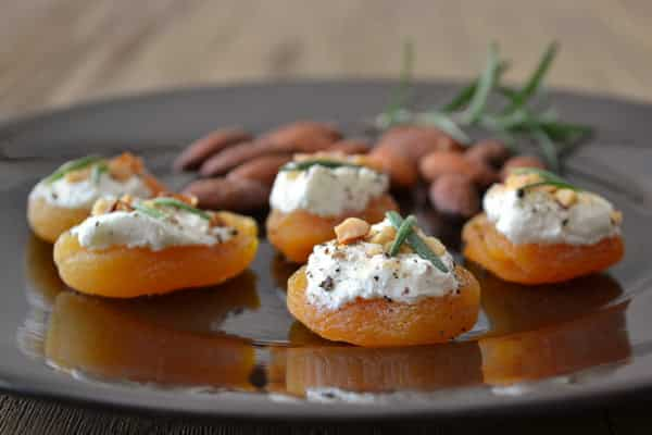 Apricot canap s and other healthy appetizer recipes for Simple canape appetizer