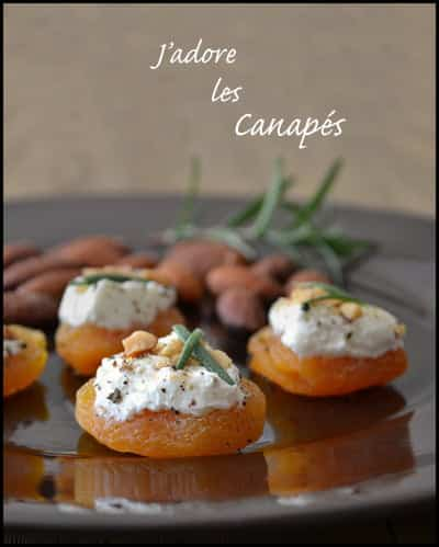 Apricots with Goat Cheese, Almonds and Rosemary. Canapés make for such simple and healthy appetizer recipes. Celebrate them with us all through March!